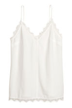 Crêpe strappy top - White - Ladies | H&M 2